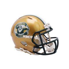 Lambeau Field Gold Mini Replica Helmet