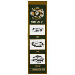 Lambeau Field Stadium Evolution Banner