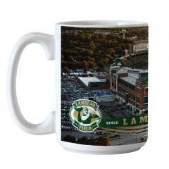 Lambeau Field Aerial View Sublimated Coffee Mug