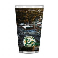 Lambeau Field Aerial View Sublimated Pint Glass