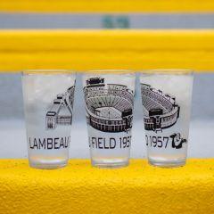Lambeau Field Sketch Pint Glass