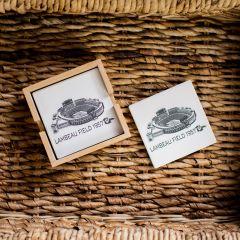 Lambeau Field Sketch 4-Pack Coaster Set
