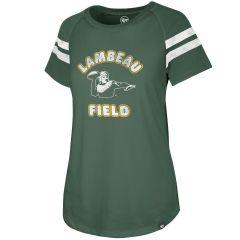 Lambeau Field Womens 47 Fly Raglan T-Shirt