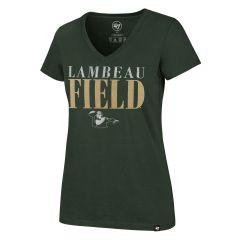 Lambeau Field Womens 47 Glimmer Stack T-Shirt