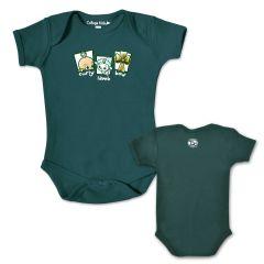 Lambeau Field Infant Curly-Lamb-Bow Bodysuit