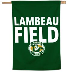 Lambeau Field Stacked Vertical Flag