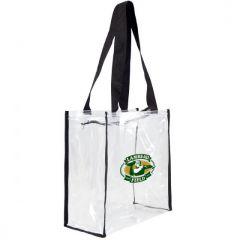 Packers Lambeau Field Square Clear Zip Tote