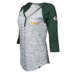 Packers Women's Plus Size Space Dye 3/4 T-Shirt