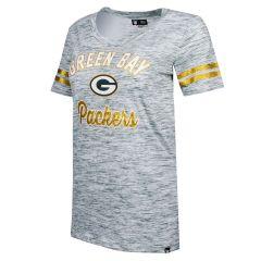 Packers Women's Plus Size Space Dye Scoop T-Shirt