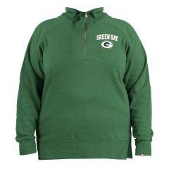 Packers Women's Plus Size 1/4 Fleece Pullover