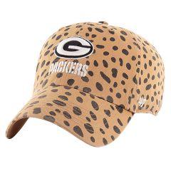 Packers 47 Womens Cheetah Clean Up Cap