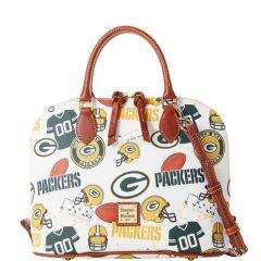 Packers Dooney & Bourke Gameday Zip Zip Satchel