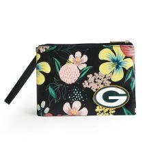 Packers Poptart Floral Wristlet