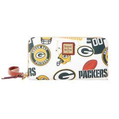 Packers Dooney & Bourke Large Zip Around Wristlet