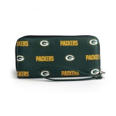 Packers Patterned Organizer Wallet