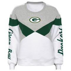 Packers Juniors Check Down Fleece Crew
