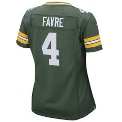 #4 Brett Favre Home Women's Game Jersey