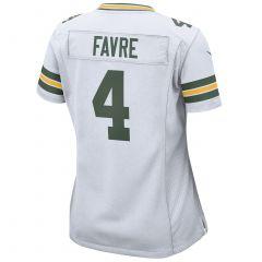 #4 Brett Favre Away Women's Game Jersey