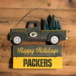 Packers Wooden Truck with Tree Sign