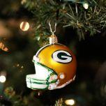 Green Bay Packers Blown Glass Helmet Ornament