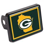 Packers State Universal Rectangle Hitch Cover