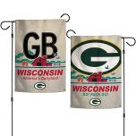Packers License Plate 2-Sided Garden Flag
