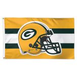 Packers Team Helmet 2-Sided Flag