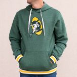 Packers Throwback Stripe Ribbed Fleece Pullover