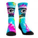 Packers Women's Multi-Color Tie-Dye Crew Sock