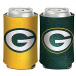 Packers Glitter Can Cooler
