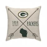 Packers Cross Arrows Decor Pillow