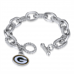 Packers Primary Charm Chain Link Bracelet