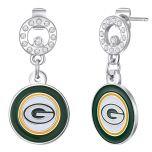Packers Circle Logo Dangle Earrings