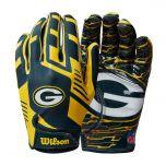 Packers Super Grip Football Gloves