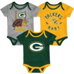 Packers Infant 3-Pack Champ Bodysuit Set