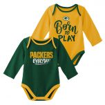 Packers Infant 2-Piece Game Time Bodysuit Set
