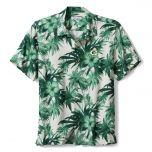 Packers Harbor Island Hibiscus Silk Camp Shirt