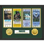 Packers Super Bowl Ticket and Bronze Coin Frame