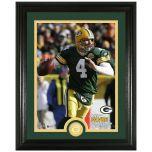 Packers Favre Legends Bronze Coin Photomint