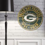 Packers Established Date Round Wood Sign