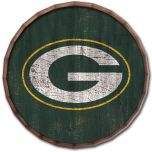 Packers Cracked Color Wood Barrel Top