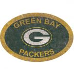 Packers Team Color Oval Wood Sign