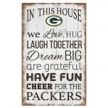 Packers In This House Wood Sign