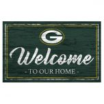 Packers Welcome To Our Home Wood Sign