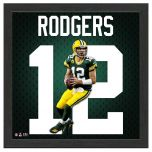 Packers Aaron Rodgers Impact Jersey Framed Photo