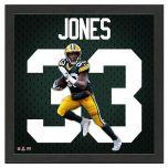 Packers Aaron Jones Impact Jersey Framed Photo