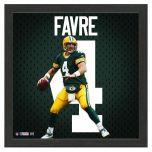 Packers Brett Favre Impact Jersey Framed Photo