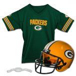 Packers Kids' Helmet & Jersey Set