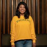 Packers 50s Classic Women's Arm Hit Crop T-Shirt
