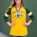 Packers Women's Block Party 3/4 Sleeve T-Shirt